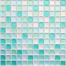 yoillione fliesenaufkleber badezimmer fliesenfolie mosaik fliesensticker bad fliesen selbstklebend fliesendekor blau 3d fliesenaufkleber kküche
