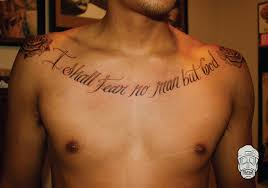 Best 25 Chest Tattoo Quotes Ideas On Pinterest
