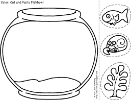 Coloring Goldfish Page Fish Bowl Kids Activities Color Cut And Paste Fishbowl Template