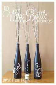 Decorative Wine Bottles Crafts by Wine Bottle Centerpieces For Wedding Clear Glass Wine Bottles