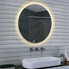 details zu rund led beleuchtung neutral weiß licht badezimmer wand bad spiegel 60 x 60 cm