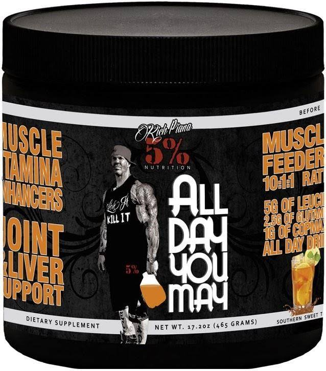Rich Piana 5% Nutrition All Day You May Growth And Full Body Recovery - Fruit Punch