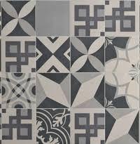 carrelage imitation carreau de ciment gris ancien décor grès 20x20