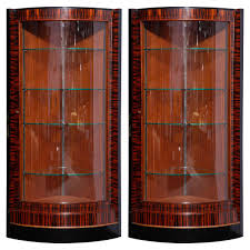 French Art Deco Corner Display Cabinets, 1935, Set Of 2 For Sale ... Studio Twenty Two French Art Deco Armoire Beautiful Walnut Tallboy Compactum Compact Small Antique Bedroom Fniture Interior Design Art Nouveau Essay Symbolism Heilbrunn Timeline Of Grande Coiffeuse Loupe D Orme Moderniste Ancien Cool Waterfall Style Chifferobe Attainable Dressers Chests And Storage World Market Set Bed Nightstands 1 A Crotch Mahogany Cabinet From France At Armoires Deco This Armoire Is Featured In Solid Wood With Glossy