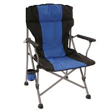 Alps Mountaineering Camp Chair by Padded Quad Chair Blue Intersource D09 15002 Folding Chairs