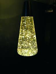 Lava Aquarium Lamp One Gold Glitter Large