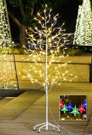 5ft Christmas Tree With Led Lights by Lightshare Save More On Shining Christmas Light Trees From