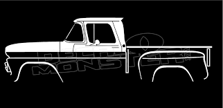 100 Semi Truck Decals Chevrolet C10 Stepside 19601963 Classic Silhouette Decal