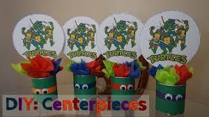 Ninja Turtle Decorations Ideas by Diy Ninja Turtle Party Centerpieces Cheap Youtube