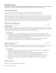 Contractors Resume Free Roofer Example Security Contractor Sample
