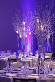 Party With Birch Tree Centerpieces Created Theme Winter Wonderland Wedding Venues