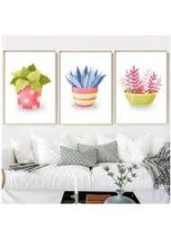 kunstdruck auf leinwand niedliches aquarell kaktus
