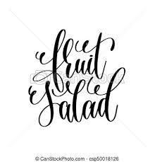 Fruit Salad Hand Lettering Inscription To Healthy Life Vector