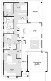 L Shaped 4 Bedroom House Plans