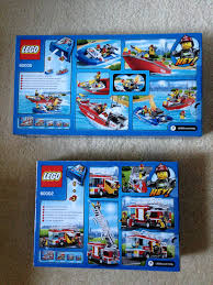 Brave New Lego World: Day XXIV: 60005 Fire Boat + 60002 Fire Truck ...