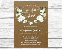 Winter Rustic Bridal Shower Invitation
