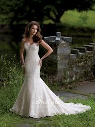 mermaid lace wedding dresses simple wedding dresses