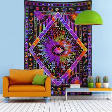 großhandel baum tapisserie wandbehang psychedelischen wald mit vögeln böhmischen mandala hippie tapisserie für schlafzimmer wohnzimmer mat cover