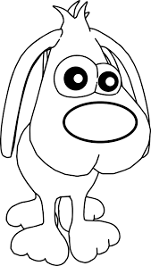 Dog Cute Cartoon Front Face Coloring Pagesheet Free Print