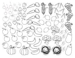 Coloring Pages Fruit And Vegetables Fruits With Good Vegetable