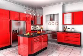 Nice Black And Red Kitchen Decor Designs Cabinets Traditional