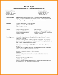 Computer Science Resume Objective Complete Stunning Career For Freshers Sample Wq A104346