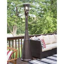 Propane Patio Heat Lamps by Az Patio Heater Hiland Mocha Wicker Propane Patio Heater Hayneedle