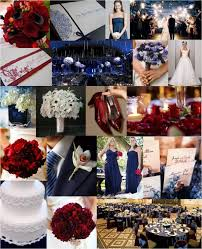Navy Cranberry Inspiration Board Wedding Red InspirationBoard Blog