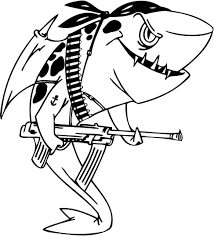 Coloring Pages Sharks Colouring Pages Drawn Tiger Shark Page 17
