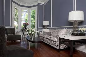Living Room Modern Black White Blue Light Couch Ideas