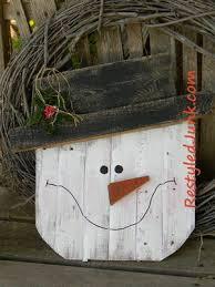 Scrap Wood Projects Rustic Snowman Head