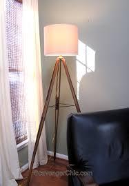 Pottery Barn Floor Lamp Assembly by Wood Surveyor U0027s Tripod Floor Lamp Scavenger Chic