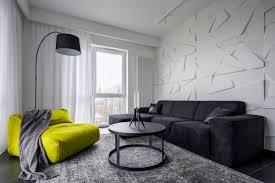 wohnzimmer mit grünem sofa rundem tisch sofa und 3d