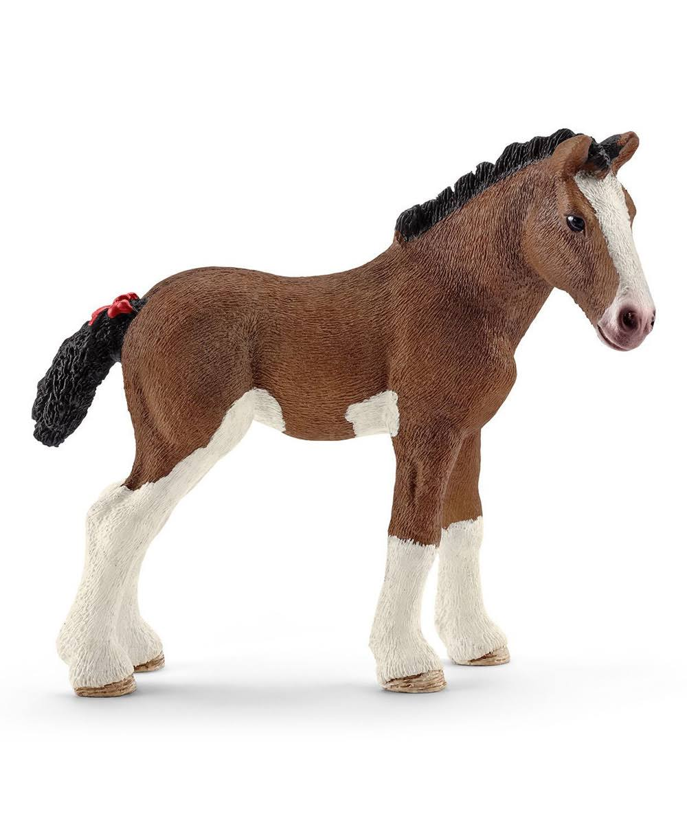 Schleich Clydesdale Foal Horse Farm Life Figurine Toy