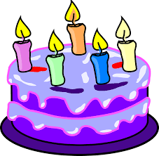 Cake Candles Birthday Purple Icing Five Happy