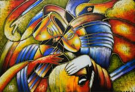 World Famous Paintings Picasso Abstract Painting Play The Guitar Hand Painted Modern Oil On Canvas