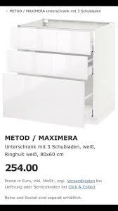 ikea unterschrank küche ringhult weiß 80x60cm