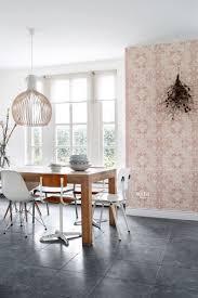 esszimmer tapete orientalisches kelim patchwork pfirsichorange rosa 148656