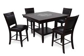 Five-Piece Contemporary 48'' Pub Table Set In Dark Brown | Mathis ...