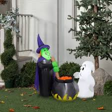 Disney Halloween Airblown Inflatables by Halloween Airblown Inflatable 4ft Potion Tasting Witch Walmart Com
