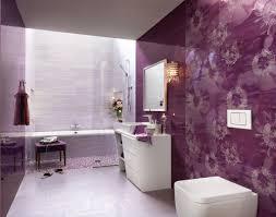 bathroom designs purple white floral bathroom ceramic tile