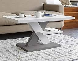 viosimc coffee table moderner couchtisch weiß grau für