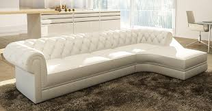m canapé deco in canape d angle blanc capitonne chesterfield avec