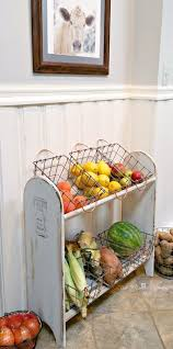 Turn A Blanket Rack Into Farmhouse Vegetable Stand Good Storage In Kitchen