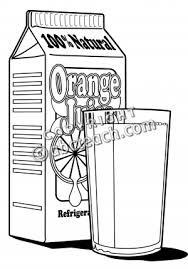 Juice Black And White Clipart