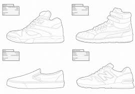 First Rate Sneaker Coloring Book