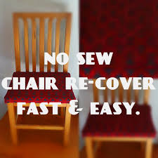Armless Chair Slipcover Sewing Pattern by Fast And Simple Chair Re Cover Easy No Sew Youtube