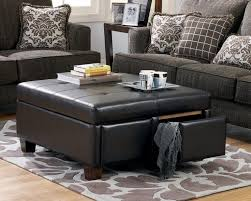 Leather Coffee Table With Storage Duque inn