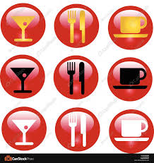 Coffee And Lunch Break Red Buttons Vector Vectors Illustration Rh Canstockphoto Com Time Clip Art Eating