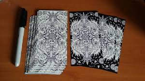 Mythic Tarot Deck Book Set by Trimmed Borders Altered Decks Index Aeclectic Tarot Forum